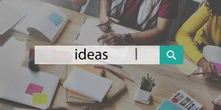 Concepto de Vision de la sugerencia de la estrategia del asunto de las ideas Foto de archivo