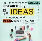 Concepto de Vision de la sugerencia de la estrategia del asunto de las ideas Fotografía de archivo