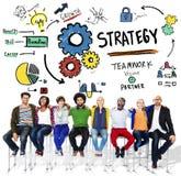 Concepto de Vision del crecimiento del trabajo en equipo de las táctica de la solución de la estrategia Fotografía de archivo libre de regalías