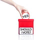 Concepto de votación Imagen de archivo libre de regalías