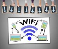 Concepto de Wifi en un whiteboard stock de ilustración