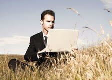 Concepto de Working Field Environment del hombre de negocios fotografía de archivo libre de regalías