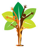 Concepto del árbol de familia ilustración del vector