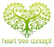 Concepto del árbol del corazón Foto de archivo libre de regalías