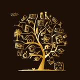 Concepto del árbol del viaje para su diseño Foto de archivo