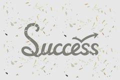 Concepto del éxito con la mano dibujada poniendo letras a palabra Fotos de archivo libres de regalías