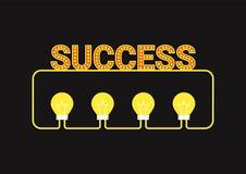 Concepto del éxito de la idea Imagen de archivo