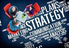 Concepto del éxito de las finanzas del análisis de las ideas de Vision de la acción de la estrategia Fotografía de archivo