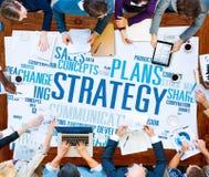 Concepto del éxito de las finanzas del análisis de las ideas de Vision de la acción de la estrategia Imagen de archivo libre de regalías