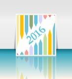 Concepto 2016 del éxito del Año Nuevo con flechas crecientes fijadas Fotografía de archivo