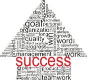 Concepto del éxito. Flecha con diversas asociaciones Imagen de archivo libre de regalías