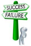 Concepto del éxito o del fracaso Imagenes de archivo