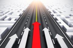 Concepto del éxito y de la dirección ilustración del vector