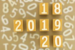 Concepto del año 2018,2019,2020 Imágenes de archivo libres de regalías