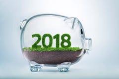 concepto 2018 del año de la prosperidad Imagen de archivo