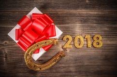 Concepto del Año Nuevo 2018 Fotografía de archivo
