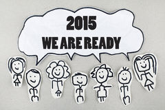 Concepto del Año Nuevo 2015 Fotografía de archivo