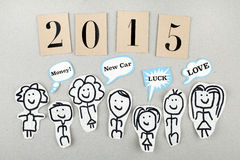 Concepto del Año Nuevo 2015 Fotos de archivo