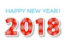 Concepto del Año Nuevo 2018 libre illustration