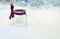Concepto del Año Nuevo con la vela Foto de archivo libre de regalías