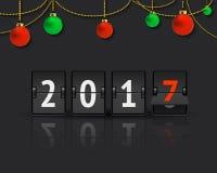 Concepto del Año Nuevo con las bolas de la Navidad stock de ilustración