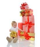 Concepto del Año Nuevo de la Navidad niño infantil del bebé del niño prepar Imagen de archivo libre de regalías