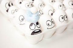 Concepto del Año Nuevo huevos graciosamente Imágenes de archivo libres de regalías