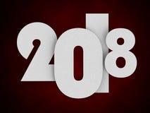Concepto del Año Nuevo 2018 ilustración 3D stock de ilustración