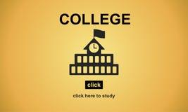 Concepto del Academic de la universidad del conocimiento de la educación universitaria Foto de archivo