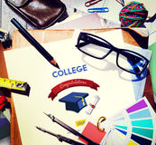Concepto del Academic de la universidad del logro de la educación Imagenes de archivo