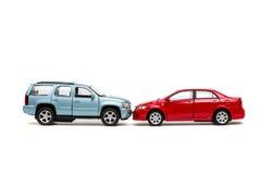 Concepto del accidente de tráfico del juguete Imagen de archivo libre de regalías
