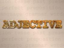 Concepto del adjetivo Imágenes de archivo libres de regalías