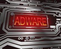 Concepto del adware. Imagenes de archivo