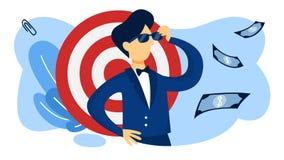 concepto del agente Idea de la seguridad y de la información confidencial stock de ilustración