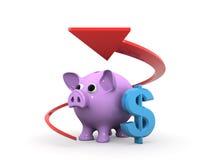 Concepto del ahorro Foto de archivo libre de regalías