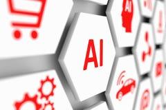 Concepto del AI Fotografía de archivo