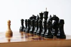 Concepto del ajedrez - individuo fuerte Imagen de archivo libre de regalías