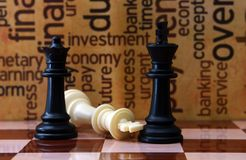 Concepto del ajedrez y del negocio Fotografía de archivo libre de regalías