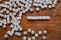 Concepto del alfabeto Imagenes de archivo