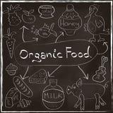 Concepto del alimento biológico fijado con los productos hechos en casa ha foto de archivo libre de regalías