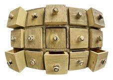 Concepto del almacenaje de datos - cabina del cajón Foto de archivo