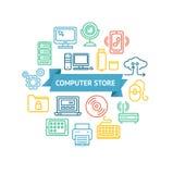 Concepto del almacenaje informático Vector Fotografía de archivo libre de regalías
