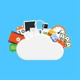 Concepto del almacenamiento de la nube Fotografía de archivo