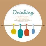Concepto del amante del vino stock de ilustración