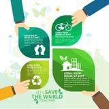 Concepto del ambiente mundial Deje la reserva del ` s el mundo junto vector el ejemplo Imagenes de archivo