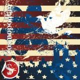 Concepto del americano de Grunge Imagen de archivo