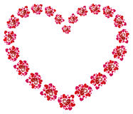Concepto del amor, corazón hermoso Imagen de archivo libre de regalías