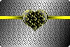 Concepto del amor del dinero (dólar) Imágenes de archivo libres de regalías