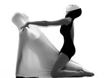 Concepto del amor del ejecutante del bailarín de los pares Fotografía de archivo