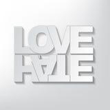 Concepto del amor o del odio Fotografía de archivo